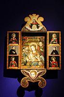 sagrada familia y santos, oleo sobre madera, siglo XVII, museo de Evora, Evora, Alentejo, Portugal, europa.