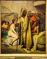 mercado de esclavos, Horace Vernet, 1836, Alte Nationalgalerie , Antigua Galería Nacional, Isla de los Museos, Berlin, Alemania, europe.
