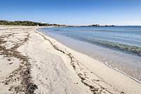 Es Caragol beach, Santanyi municipality, Mallorca, Balearic Islands, Spain.