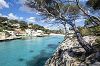 Cala Santanyi, Santanyi, Mallorca, Balearic Islands, Spain. Image taken during the Covid-19 pandemic lockdown.