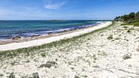 Es Carbo beach, Ses Salines, Mallorca, Balearic Islands, Spain.
