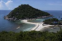 Panoramic view of the Nang Yuan Island near Koh Tao, Thailand.