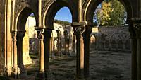 Cloister Ruins. San Juan de Duero Monastery. Soria. Spain.