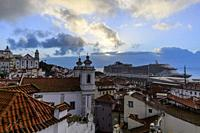 View of Alfama (Lisbon) in times of virus.