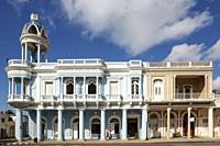 Porticoed Neoclassical buildings at the Parque José Martí. Cienfuegos, Cuba.