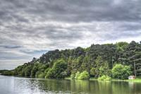 HDR image of Swithland Reservoir and Surrounding Woodland in Leicestershire.