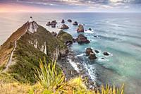 Nugget point cape in Kaimataitai, South Island, New Zealand.
