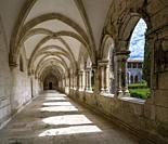 Cloister of King Afonso at Monastery of Saint Mary of the Victory in Batalha, Portugal.