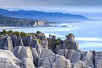 Pancake Rocks in Punakaiki, Paparoa National Park, South Island, New Zealand.