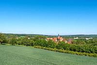 Landscape with city with, Gochsheim, Kraichgau, Baden-Wurttemberg, Germany, Europe.