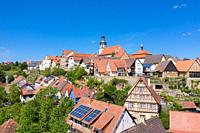 Aerial drone view, city view, Gochsheim, Baden-Wurttemberg, Germany, Europe.