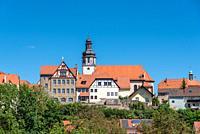 View to the St Martin church, Gochsheim, Baden-Wurttemberg, Germany, Europe.