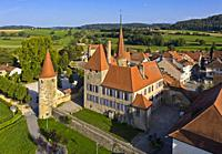 Avenches Castle, Chateau dâ. . Avenches, Avenches, Canton of Vaud, Switzerland.