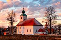 Baroque church in Haj village in Turiec region, Slovakia.