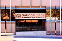 Outside the National Bank of Arizona building in downtown Tucson AZ.