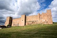 Sigüenza castle (Castillo de los Obispos). Guadalajara province, Castilla-La Mancha, Spain.