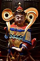 Statue inside Buddha Tooth Relic Temple in Chinatown. Buddha statue,Singapore,Asia.