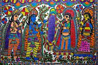 Madhubani painting ( Bihar, India). The Madhubani ( or Mithila) style of painting is an art form from northern India and southern Nepal.