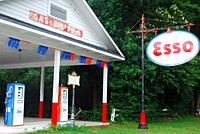 Gallivants Ferry Esso gas station in South Carolina, built ion 1922, recalls the early days of auto travel.