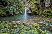 Waterfall / Nature Park Ribeira dos Caldeiroes/ Sao Miguel Island / Azores / Portugal.