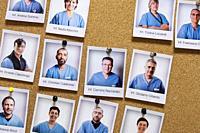 Italy, Pavia, San Matteo hospital, portraits of nurses and doctors.