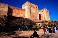 Placeta de los Aljibes. The Alcazaba in the Alhambra. Granada.