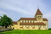 The church St. George in Oberzell on Reichenau Island in Lake Constance, Baden-Wurttemberg, Germany.