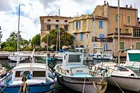 View of Martigues, district of the island, the Venice of Provence, welcome to Provence.