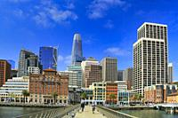 San Francisco Downtown, California, USA.