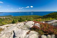 The Beehive Trail in Acadia National Park on Mount Desert Island, Maine, USA.