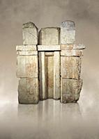 Ancient Egyptian False Door stele of Princess Wehemnefret, limestone, Old Kingdom, 4th Dynasty (2543-2435 BC), Giza, Western Cemetery, mastaba of Wehe...