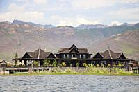 Sky Lake Inle Resort, Maing Thauk village, Inle lake, state of Shan, Myanmar, Asia.
