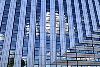 Reflection of a modern building in La Défense,Paris,France.
