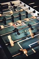 Old table soccer game in a pub.