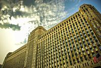 Merchandise Mart facade, Chicago, Illinois.