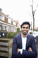 Indian business man in Leeuwarden, Friesland, Netherlands, Europe.