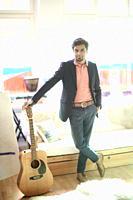Indian man with guitar
