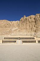 Overview, Hatshepsut Mortuary Temple (Deir el-Bahri), UNESCO World Heritage Site, Theban Necropolis, Luxor, Egypt