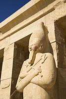 Statue of Queen Hatshepsut, Hatshepsut Mortuary Temple (Deir el-Bahri), UNESCO World Heritage Site, Luxor, Egypt