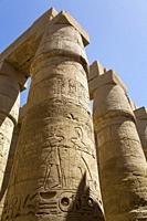 Columns, Great Hypostyle Hall, Karnak Temple Complex, UNESCO World Heritage Site, Luxor, Egypt