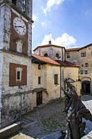 The church at pilgrimage village of Santa Maria del Monte on Sacro Monte di Varese, UNESCO World Cultural Heritage Site, Santa Maria del Monte, Varese...