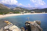 Himare Beach, Ionian Coast, Albania.