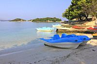 Ksamil Beach and Islands, Butrint National Park, Albania.