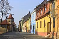 Colorful Houses, Sibiu Old Town, Romania.