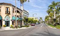 West Venice Avenue in Venice Florida on the Gulf of Mexico in the United States.