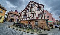 Typical medieval town house in Nuremberg.