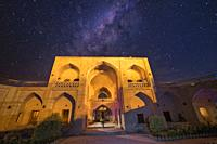 Clear night in a caravanserai where the Milky Way is observed.