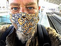 Tilburg, Netherlands. Due to Corona Crisis, new, mandatory rules are implemented. Every passenger should wear a facemask.