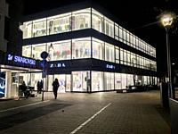 Tilburg, Netherlands. Enlightened Zara Store during Opening Times on a Shopping Night.