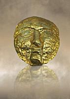 1st -2nd century AD gold death mask from the Roman levant. Jerusalem, Israel. British Museum no 139535.